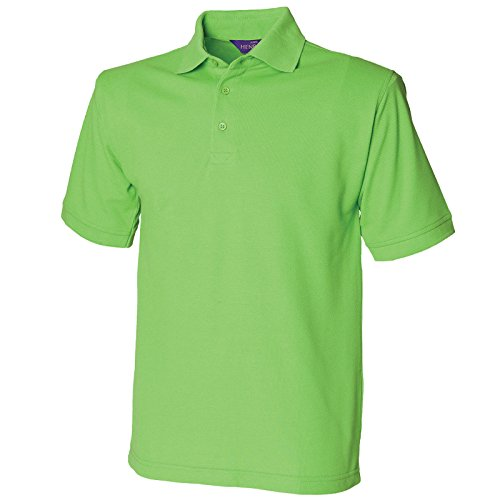 Henbury Herren Modern Poloshirt Hellgelb