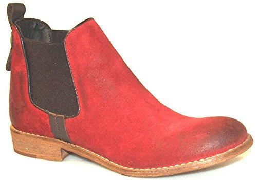 Mustang - Damen Chelsea Boots - Rot Schuhe in Übergrößen, Größe:45