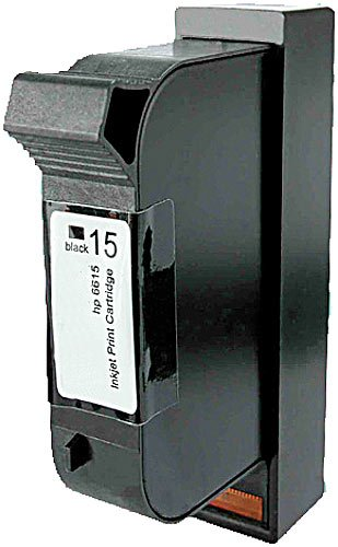 Preisvergleich Produktbild recycled / rebuilt by iColor HP Tintenpatrone: Recycled Cartridge für HP (ersetzt C6615D No.15), black (HP Druckerpatronen)