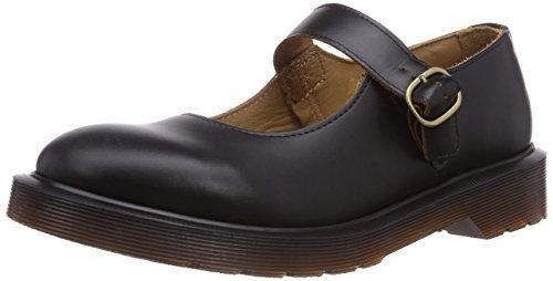 Dr. Martens INDICA Vintage Smooth BLACK, Damen Mary Jane Halbschuhe, Schwarz (Black),...