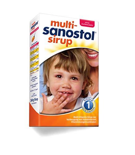 Multi-Sanostol ohne Zuckerzusatz: Multivitaminpräparat für Kinder ab 1 Jahr zur Vorbeugung von kombinierten Vitaminmangelzuständen, 260g - Täglich 1 Multivitamin