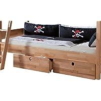 Preisvergleich für Relita LS3502314-2E Schubladen Set zu Etagenbett Stefan, Maße 70 x 23 x 88 cm, Buche massiv natur lackiert stabverleimt