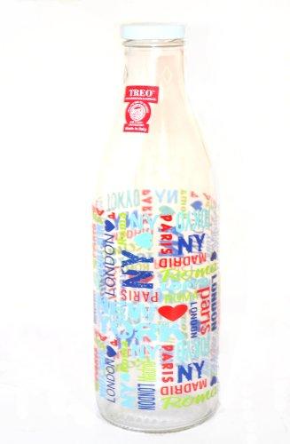 Treo Ivory Glass Bottle Scribble, 1 Litre