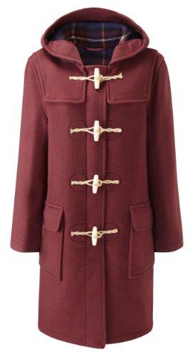 Montgomery Original Duffle Coat Pour Fomme Bascule en Bois Rouge Bordeaux 52