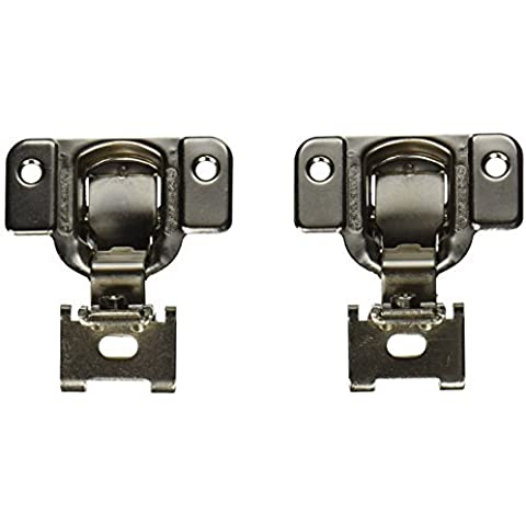 Amerock BP2811H1314 Matrix Concealed Hinge, 1-3/4in(45mm) Hole Pattern Hinge with 1/4in(6mm) Overlay - Nickel by Amerock
