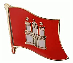 U24 Flaggenpin Hamburg Flagge Fahne Pin Anstecker