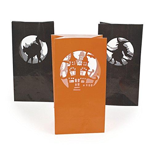 cama24com 12x Halloween Lichttüten Papiertüten für LED-Licht Halloween Deko Horrorparty