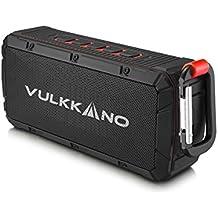 VULKKANO Bullet Altavoz Bluetooth portátil resistente agua, arena y golpes. 10W potencia y ultra-compacto. microSD Altavoz inalámbrico portátil para iPhone, Android, Pc, TV, etc.