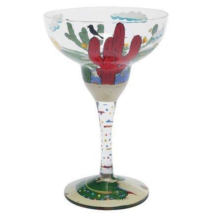 Lolita Margarita-Glas, Rot, Weinrot, Kaktus im Ruhestand Love MRG 5580Q-Martini Red Margarita Glas