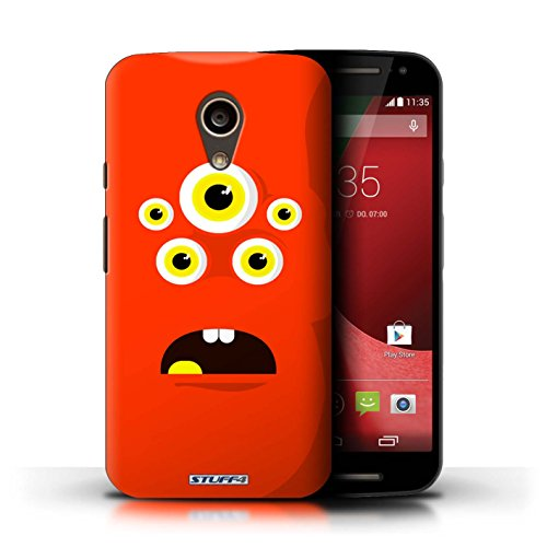 Kobalt® Imprimé Etui / Coque pour Motorola Moto G (2014) / Rouge conception / Série Monstres Rouge