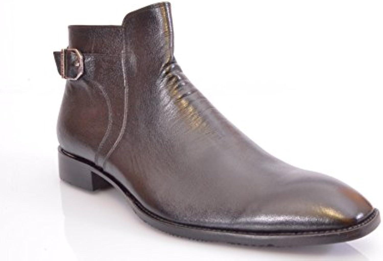 Atelier MC 40205 Luxury Handmade Italy Business Boots Schwarz (44)  Sale   Ausverkauf WG Geschäftsaufgabe!