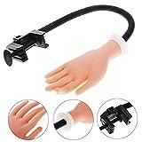 Momangel Nail Art Training Fake Hand, drehbare Tischhalterung, weiche Maniküre Übungsmodell-Werkzeug