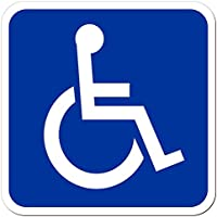 lohofol rótulo magnético Embarque de las Personas con discapacidad, difícilmente discapacitados de transporte de Heridos Transcend Deporte Silla de ruedas silla | Cartel magnético, disponible en tres tamaños