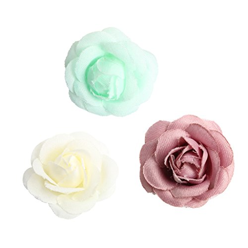 SM SunniMix 20x Elegante Blumenköpfe Blütenköpfe Streublumen Dekobelumen, DIY Haarschmuck Handgelenk und Anstecker