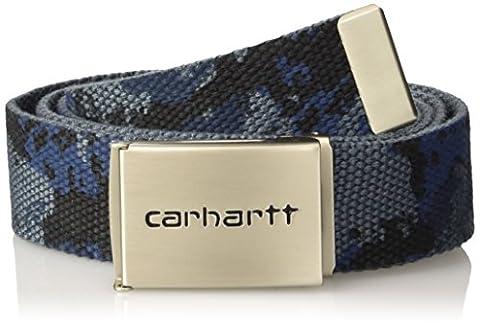 Carhartt Clip Belt Chrome, Ceinture Mixte, Multicolore (Camo Painted Blue), Taille Unique (Taille Fabricant: Taglia Unica)