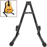 Ociodual Soporte Universal Plegable de Suelo para Guitarra Acustica Electrica Española Negro