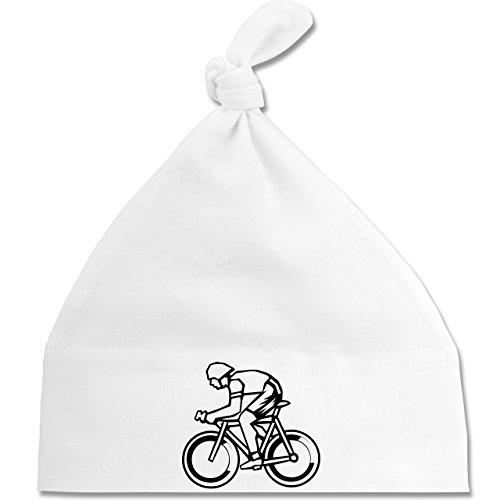 Sport Baby - Radsport - Unisize - Weiß - BZ15 - Baby Mütze mit einfachem Knoten als Geschenkidee