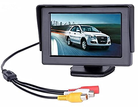 BW 4.3 inch TFT LCD Car Monitor Car Reverse Parking Monitor with LED Backlight Display for Rear View Camera