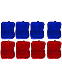 Afrose Combo 4 Pc Red Earring Box And 4 Pc Blue Ear Ring Folder Vanity Case