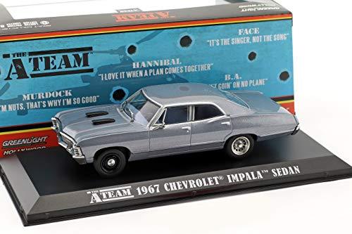Greenlight Chevrolet Impala Sport Sedan Baujahr 1967 TV-Serie Das A-Team (1983-87) blaugrau 1:43