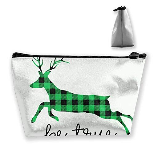 Grüner und schwarzer Büffel-Plaid-Elch-Geldbeutel-Änderungs-Beutel-Bleistift-Kasten-Mobiltelefon-Kasten bilden Taschen (Nyx Lippen Bleistift)