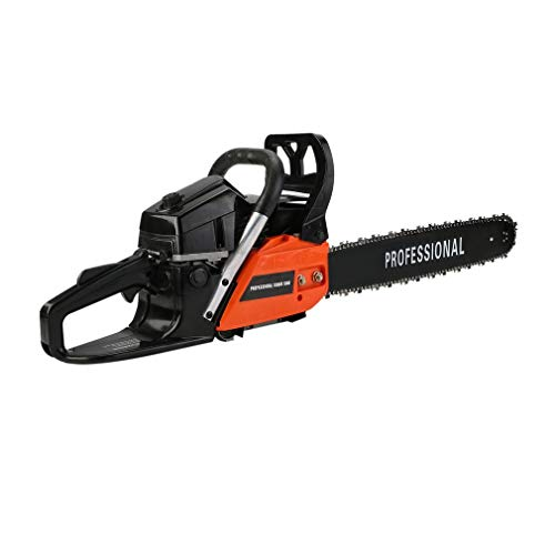 "41b3wrj2pQL. SS500  - Petrol Chainsaw 52cc Engine Garden Tools Chainsaw, 51cm(20"") Oregon Bar and Chain, Chain Speed 18m/s, Automatic Chain Brake"
