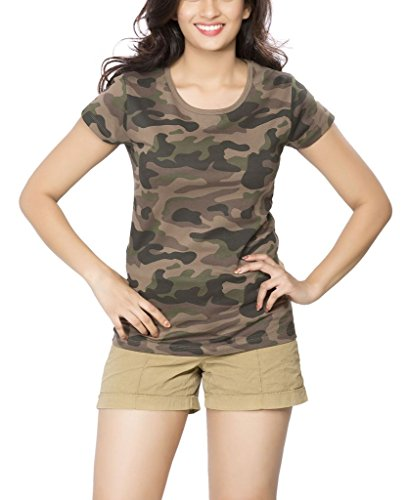 Clifton Womens Army T-Shirt R-Neck - Walnut (XXX-Large)