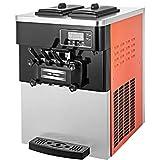 VEVOR Machine à Crème Glacée de Table Professionnel Sorbetière à Glace Ice Cream Machine pour fabriquer crème glacée Molle, e