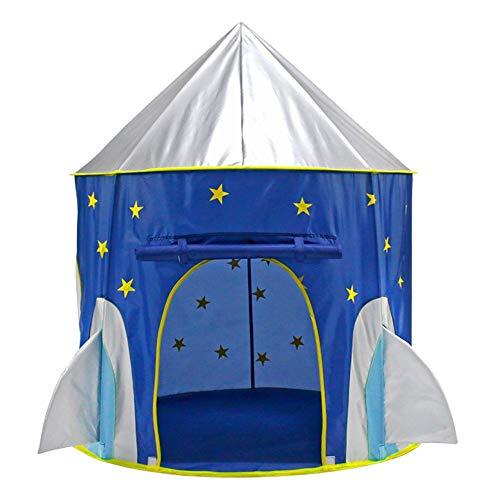 KQYAN-tents Kinderzelt Rakete Ship Play Tent Playhouse für Indoor-und Outdoor-Spaß, fantasievolle Spiele & Geschenk Tragetasche für Jungen und Mädchen