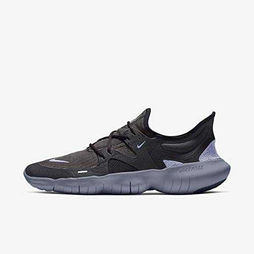 Nike Free RN 5.0 Men's Running Shoe Thunder Grey/Black-Stellar Indigo 12.5
