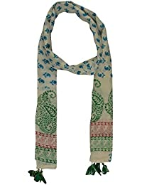 Hand Block Printed Women's Cotton Stole