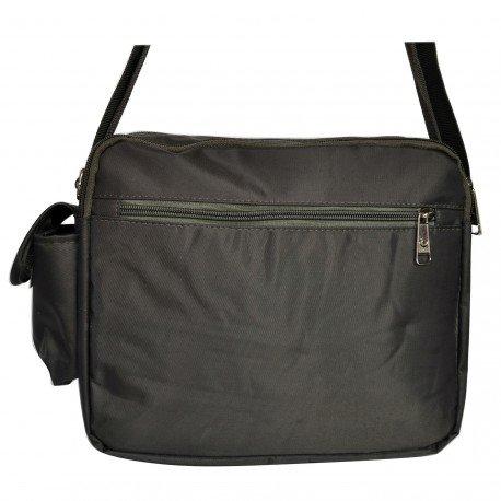 Charmoni–Tasche Schultertasche aus Nylon Damen Herren Neu Durand Grün - Kaki