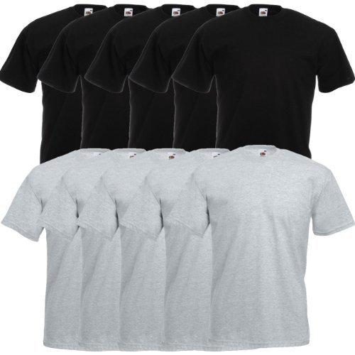 Fruit of the Loom Original Valueweight T Rundhals T-Shirt F140 10er Pack