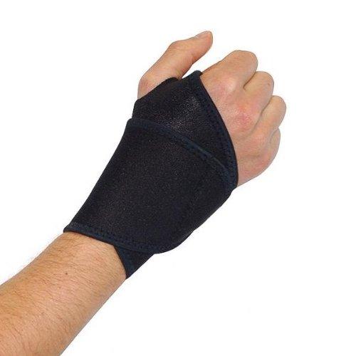 EyezOff Neopren Handgelenk-Manschette mit Klettverschluss schließen, Einheitsgröße, schwarz (Wrap Links Handgelenk Schwarz)
