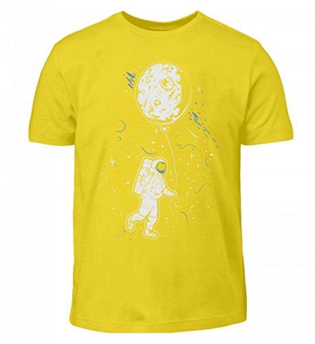 T-Shirt - Astronaut mit Ballon - Mond Weltraum Raumfahrer Galaxie Science Fiction Sci-FI Raumschiff (Alien Astronaut Kostüm)