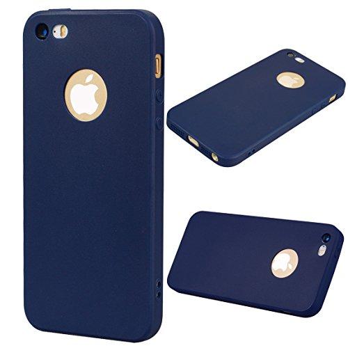Custodia iPhone 5S /iPhone SE, Voguecase Custodia Silicone Morbido Flessibile TPU Custodia Case Cover Protettivo Skin Caso Per Apple iPhone 5 5G 5S SE (Rosso) Con Stilo Penna Blu Scuro