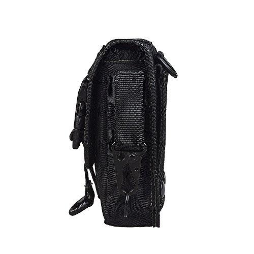 xhorizon TM 1000D Nylon Smartphone fondina EDC strumento accessorio Waist Pouch custodia con passante per cintura & cintura Latch per accessori & Smartphone #A