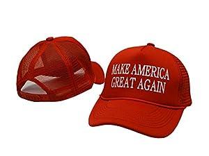 #1 Casquette Cap - Atelic® Make America Great Again Hat 2016 - Embriodered Just Like Donald Trump's - Red