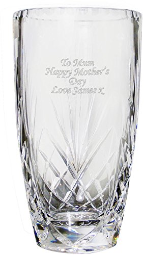 Jarrón ovalado de cristal personalizado