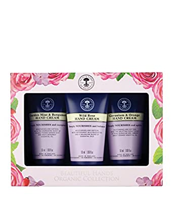 Neal's Yard Remedies Hand Cream Collection: Geranium & Orange Hand Cream 50ml, Wild Rose Hand Cream 50ml, Garden Mint & Bergamot Hand Cream 50ml