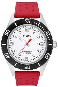 Timex Unisex-Armbanduhr Analog Silikon rot T2N538D7