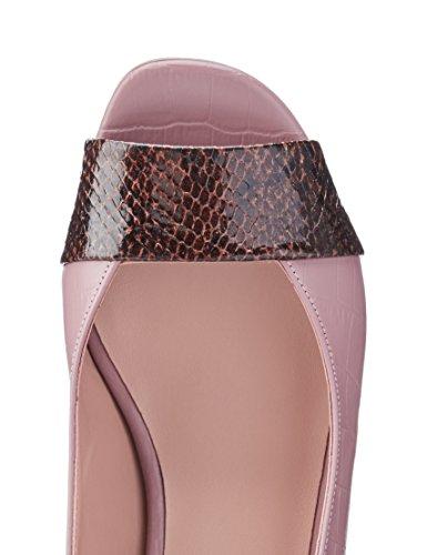 FIND Damen Sandalen aus Leder Pink