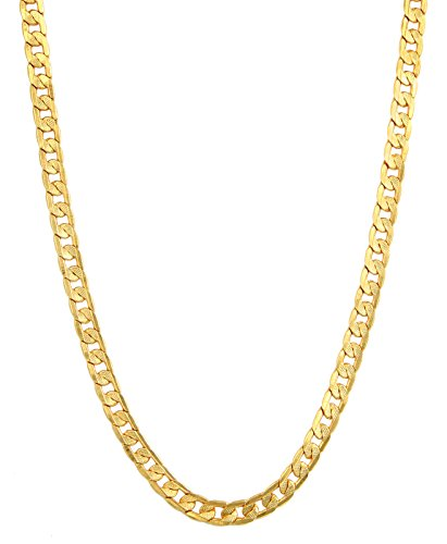 Charms Handmade Gold Plated Chain for Boys & Men (Golden)(CH-053EF)