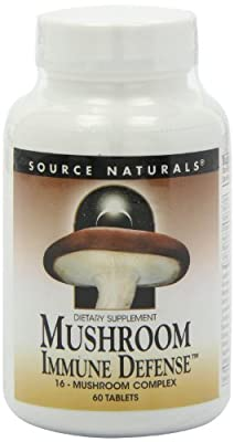 Mushroom Immune Defence, 16-Mushroom Complex, 60 Tablets by Source Naturals