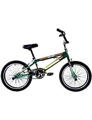 "F.lli Schiano Hard Road BMX - Bicicleta para hombre, color verde oscuro / verde claro, 20"""