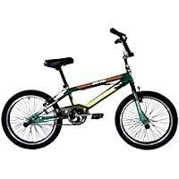 "F.lli Schiano Hard Road BMX - Bicicleta para Hombre, Color Verde Oscuro/Verde Claro, 20"""