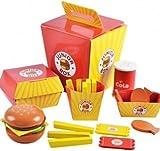Kinder Holz Burger-Mahlzeit in einer Box Play Spielzeug Lebensmittel von Babyhugs