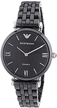 Emporio Armani Women's Black Dial Ceramic Band Watch AR1487, Quartz, An