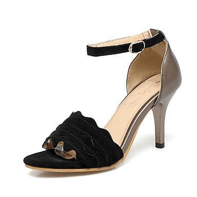 Sandali Primavera Estate Autunno Club scarpe Ufficio vello & carriera parte & abito da sera Stiletto Heel fibbia nera Beige rosa Black