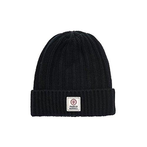 Franklin-amp-Marshall-Knitted-Hat-Black